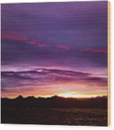 Purple Majesty Sunset Wood Print