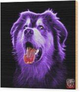Purple Malamute Dog Art - 6536 - Bb Wood Print
