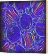 Purple Marbles Shower Curtain Wood Print