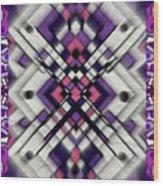 Purple Maze Wood Print