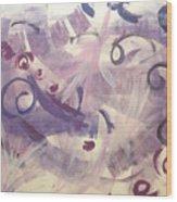 Purple Mind  Wood Print