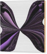 Purple Monarch Butterfly Abstract Wood Print
