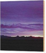Purple Mountain Sunset Wood Print