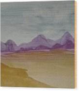 Purple Mountains 2 Wood Print