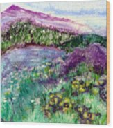 Purple Mountains Wood Print
