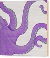 Purple Octopus Wood Print