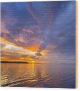 Purple Orange Dream Sunset Wood Print