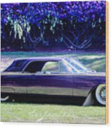 Purple Overtones Wood Print