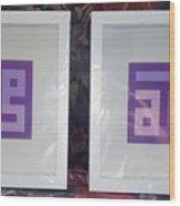 Purple Pair Wood Print