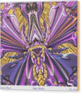 Purple Papillon Wood Print