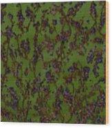 Purple Paragon In Green  Wood Print