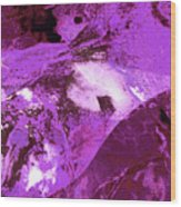Purple Passion Abstract Wood Print