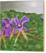 Purple Passion Wood Print by Alanna Hug-McAnnally