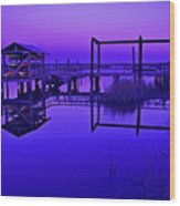 Purple Perspectives Wood Print
