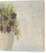Purple Petunias Wood Print