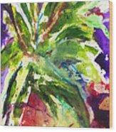 Purple Pineapple Wood Print