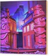 Purple Pink Fantasy Wood Print