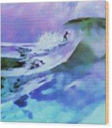 Purple Pit Wood Print