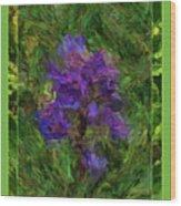 Purple Png Flower Wood Print