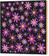 Purple Polka Wood Print