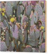 Purple Prickly Pear 1 Wood Print