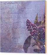 Purple Prose Wood Print