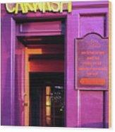 Purple Pub Wood Print