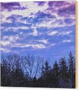 Purple Puffs Wood Print