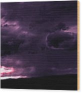 Purple Rain Clouds Majesty Wood Print