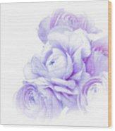 Purple Ranunculus Wood Print
