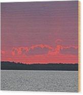Purple Rays Wood Print