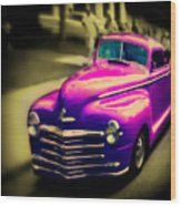 Purple Ride Wood Print