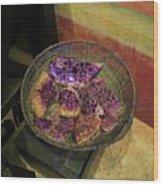 Purple Rocks Wood Print