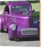 Purple Rod Wood Print