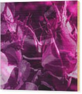 Purple Rose And Pansy Wood Print