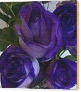Purple Roses Ll Wood Print by Marsha Heiken