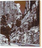 Purple Mount Rushmore Vision Wood Print