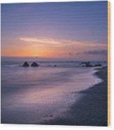 Purple Sea Wood Print