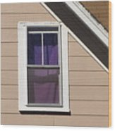 Purple Shade Composition Wood Print