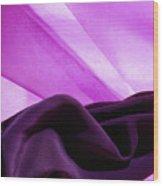 Purple Silk Wood Print