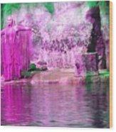 Purple Siren Wood Print