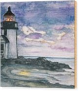 Purple Skies Over Nantucket Wood Print