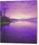 Purple Skies Wood Print