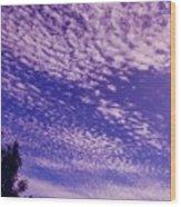 Purple Sky At Casapaz Wood Print