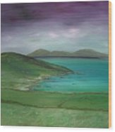 Purple Sky Over Donegal Wood Print