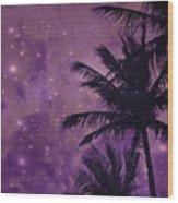 Purple Sky Palm Wood Print