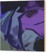 Purple Smash Wood Print
