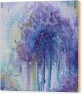 Purple Sofness Wood Print