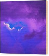 Purple Storm Wood Print