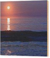 Purple Sunrise On Nauset Beach Wood Print